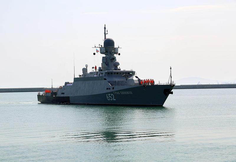 """Военные корабли России прибыли в Баку <span class=""""color_red"""">- ФОТО - ВИДЕО</span>"""
