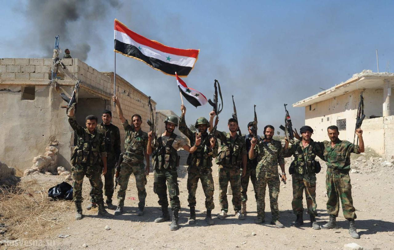 Сирийская армия подошла креке Евфрат