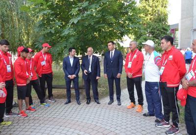 """В Олимпийской деревне состоялась встреча с азербайджанскими спортсменами, участвующими в Европейском олимпийском фестивале <span class=""""color_red"""">- ФОТО</span>"""