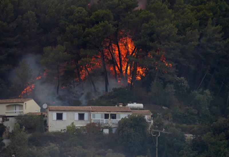 Лесной пожар уничтожил несколько домов в окрестностях Ниццы