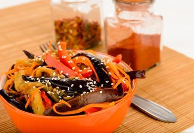 Баклажаны по-корейски - Пошаговый рецепт
