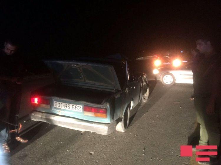 В Исмаиллы автомобиль сбил буйвола