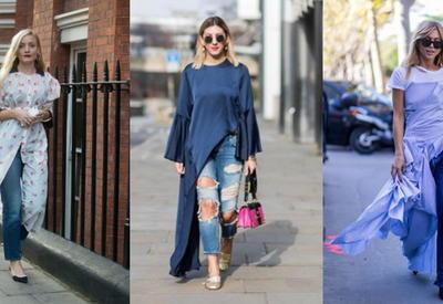 """Новый тренд - джинсы с платьем - 10 стильных сочетаний <span class=""""color_red"""">- ФОТО</span>"""
