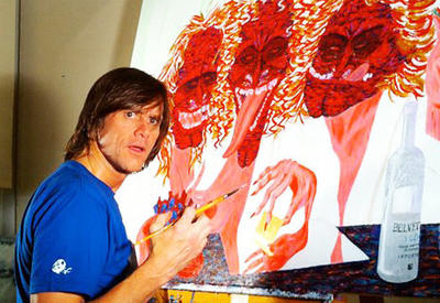 """Джим Керри вот уже много лет рисует картины и лепит скульптуры <span class=""""color_red"""">- ВИДЕО</span>"""