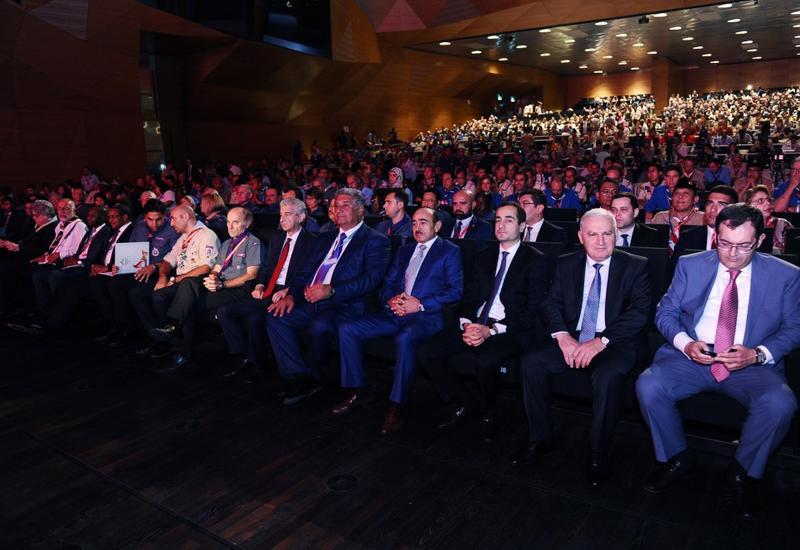 """В Баку состоялась церемония официального открытия 41-й Всемирной скаутской конференции <span class=""""color_red"""">- ФОТО</span>"""
