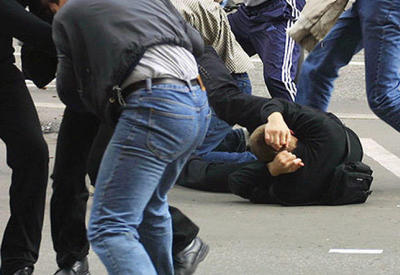 Массовая драка в Баку, есть пострадавший