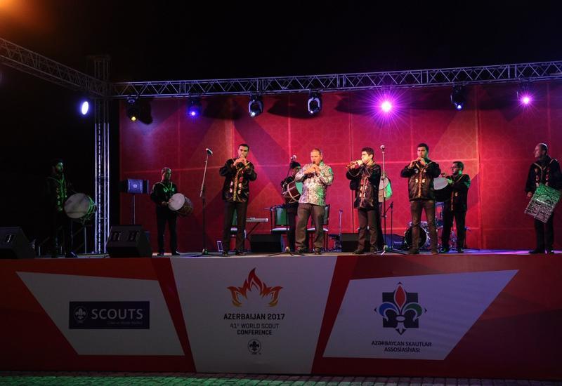 """Для участников Всемирной скаутской конференции устроен вечер азербайджанской культуры <span class=""""color_red"""">- ФОТО</span>"""