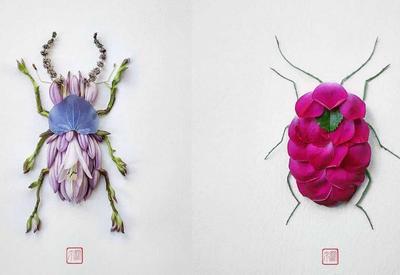 Цветочные фигурки Раку Иноуэ: никогда ещё насекомые не были такими милыми