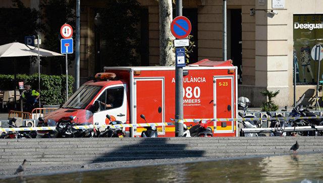ВБарселоне автомобиль совершил наезд на 3-х полицейских