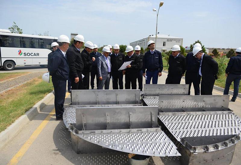 """В Азербайджане завершается ремонт одного из крупнейших химзаводов <span class=""""color_red"""">- ФОТО</span>"""