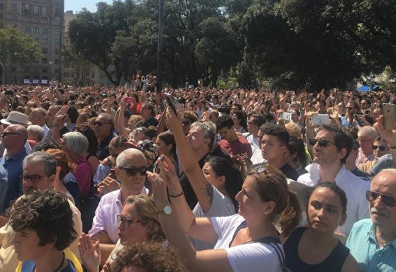 В центре Мадрида мусульмане вышли на акцию против терроризма