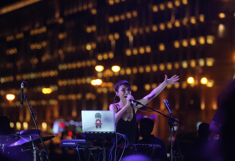 "В парке Центра Гейдара Алиева состоялся концерт группы ""Dihaj"" <span class=""color_red"">- ФОТО</span>"