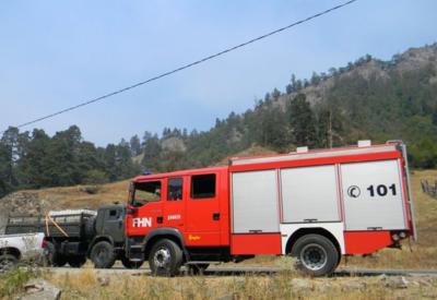 Азербайджанские пожарные борются с огнем на наиболее сложных участках в Грузии