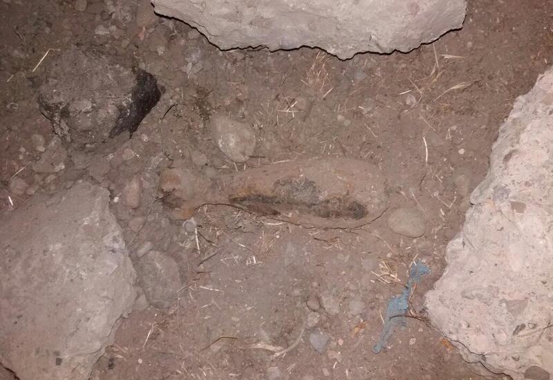 В Гяндже обнаружили минометный снаряд