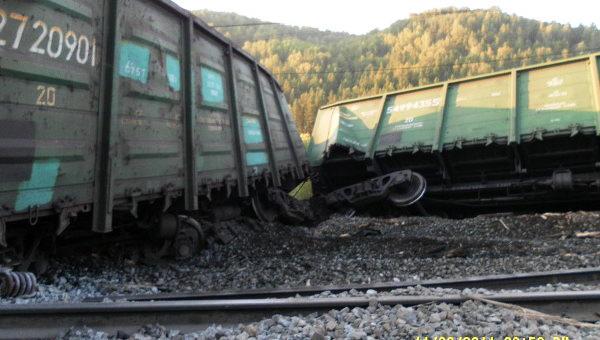 Авария вЧите: 14 вагонов поезда сошли срельсов
