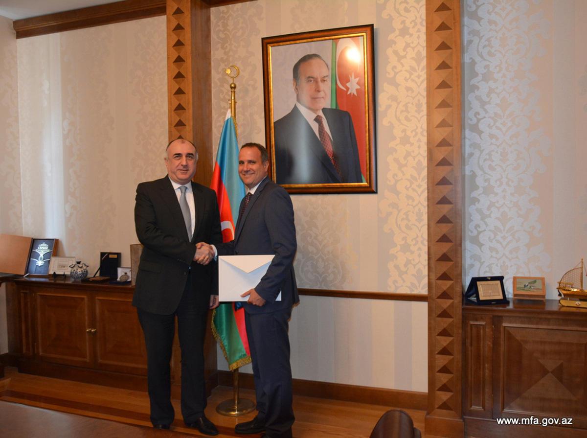 Глава МИД Азербайджана принял нового посла Венгрии