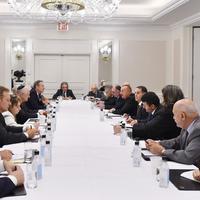 """Президент Ильхам Алиев встретился в Нью-Йорке с председателем Фонда этнического взаимопонимания США и представителями еврейских организаций Америки <span class=""""color_red"""">- ОБНОВЛЕНО - ФОТО</span>"""