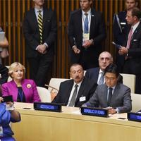"""Президент Ильхам Алиев в Нью-Йорке принял участие в мероприятии высокого уровня - """"Поддержка политической декларации о реформе ООН"""" <span class=""""color_red"""">- ФОТО</span>"""