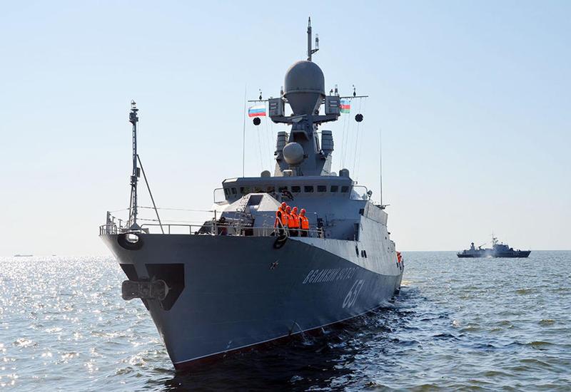 """Военные корабли ВМФ России прибыли в Баку <span class=""""color_red"""">- ФОТО - ВИДЕО</span>"""