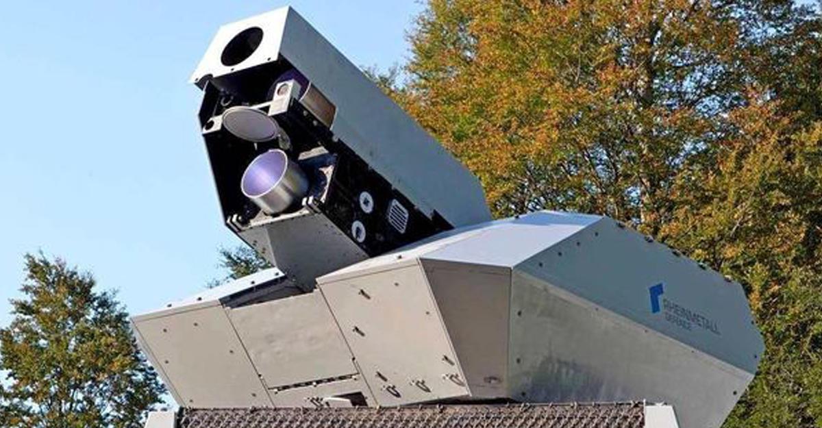 Лазерная установка против беспилотников показана вдействии