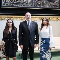 """Президент Ильхам Алиев и его супруга Мехрибан Алиева приняли участие в открытии 72-й сессии Генассамблеи ООН <span class=""""color_red"""">- ФОТО</span>"""