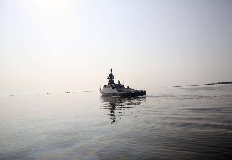 """Российские военные корабли покинули Баку <span class=""""color_red"""">- ФОТО - ВИДЕО</span>"""