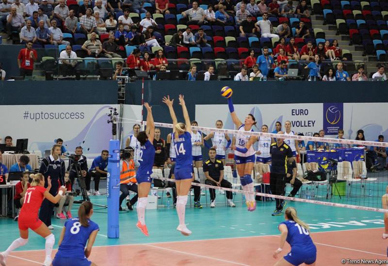В Баку продолжается чемпионат Европы по волейболу