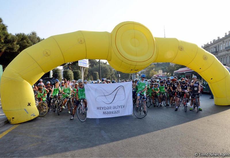 В Баку прошел велопробег, посвященный Всемирному дню без автомобиля