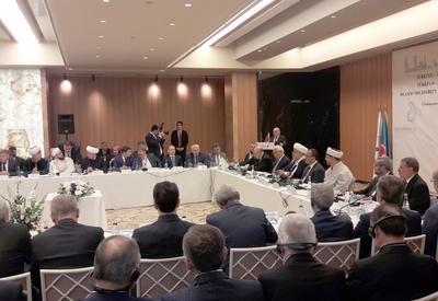 """В Стамбуле проходит международная конференция на тему «Исламская солидарность на примере турецко-азербайджанской дружбы» <span class=""""color_red"""">- ФОТО</span>"""