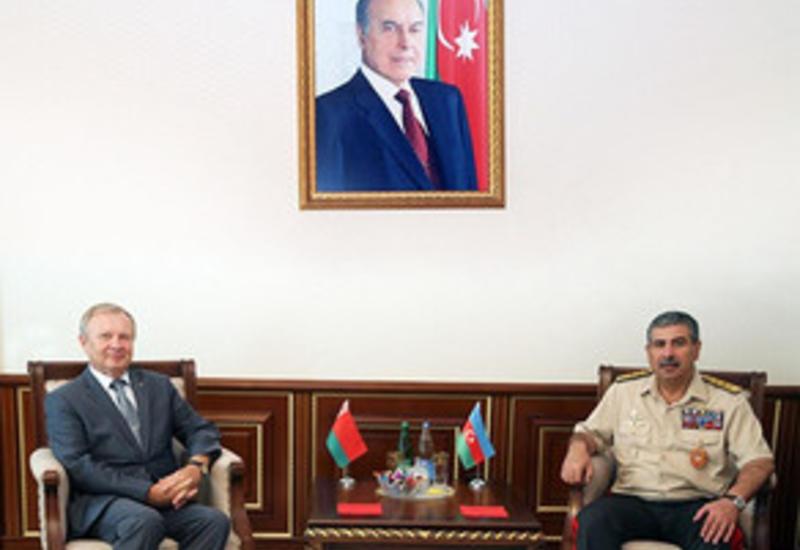 Закир Гасанов на переговорах с белорусским послом