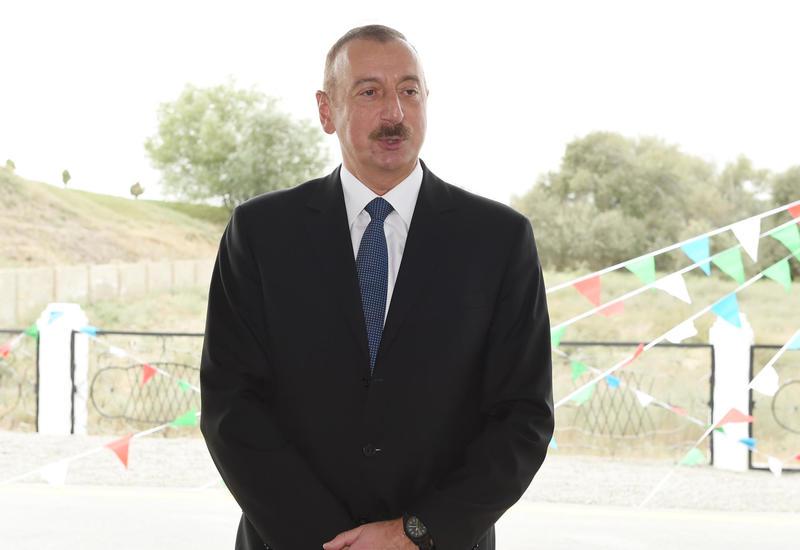 Президент Ильхам Алиев: В Азербайджане разрабатываются предложения в связи с закладкой новых дорог