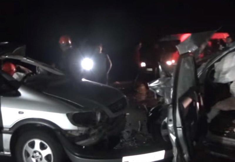 Появились кадры жуткой аварии в Исмаиллы