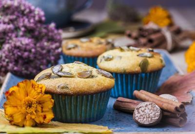 Тыквенные кексы с семечками - Пошаговый рецепт