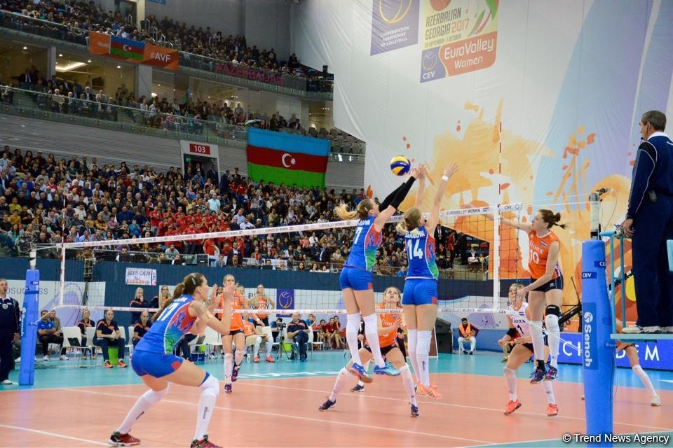 Полуфинал чемпионата Европы поволейболу среди женщин