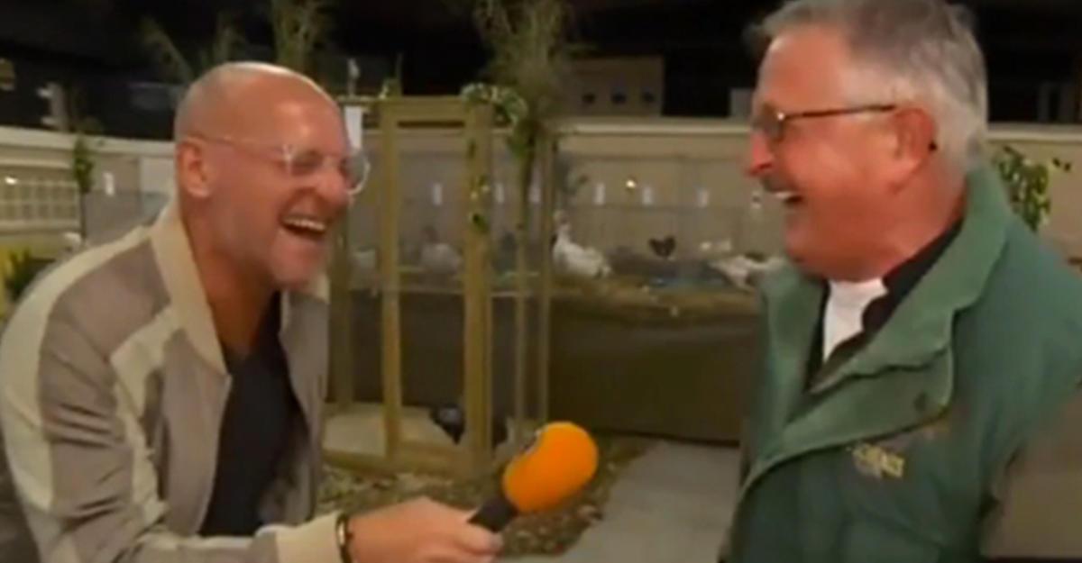 Смех «проглотившего курицу фермера» вызвал истерику у корреспондента исорвал съемки