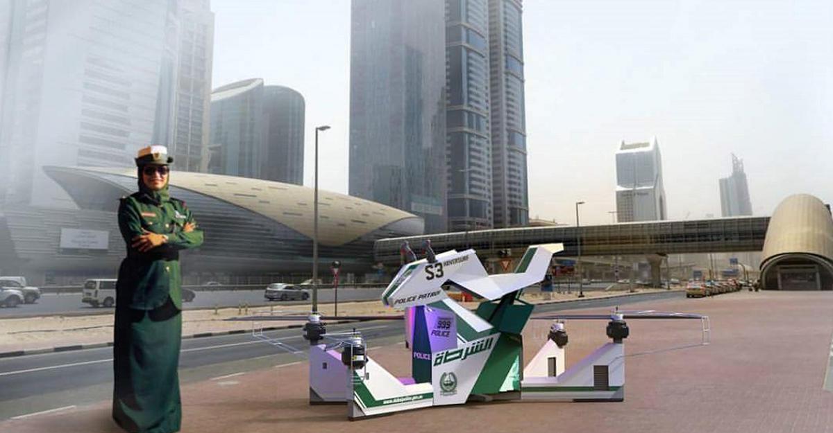 Российский гибрид мотоцикла идрона показали навыставке вДубае