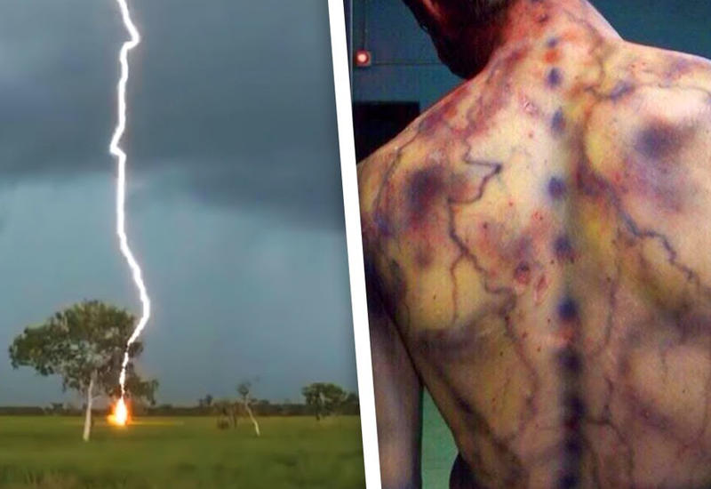 Невероятные последствия ударов молний, снятых на камеру
