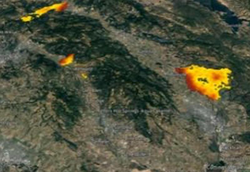 Снимки из космоса показали ужасающие масштабы катастрофы в Калифорнии