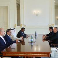 """Президент Ильхам Алиев: Существуют хорошие возможности для инвестирования стран Персидского залива в Азербайджан <span class=""""color_red"""">- ФОТО</span>"""