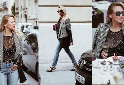 """Простота и шик в Париже - Дневной образ модного блогера Айнур Гузель <span class=""""color_red"""">- ФОТО</span>"""