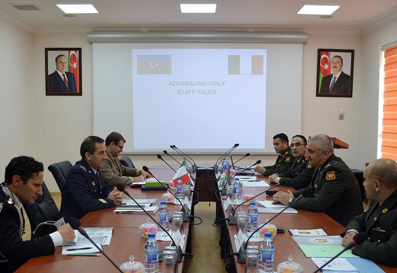 В Баку прошли штабные переговоры с министерством обороны Италии