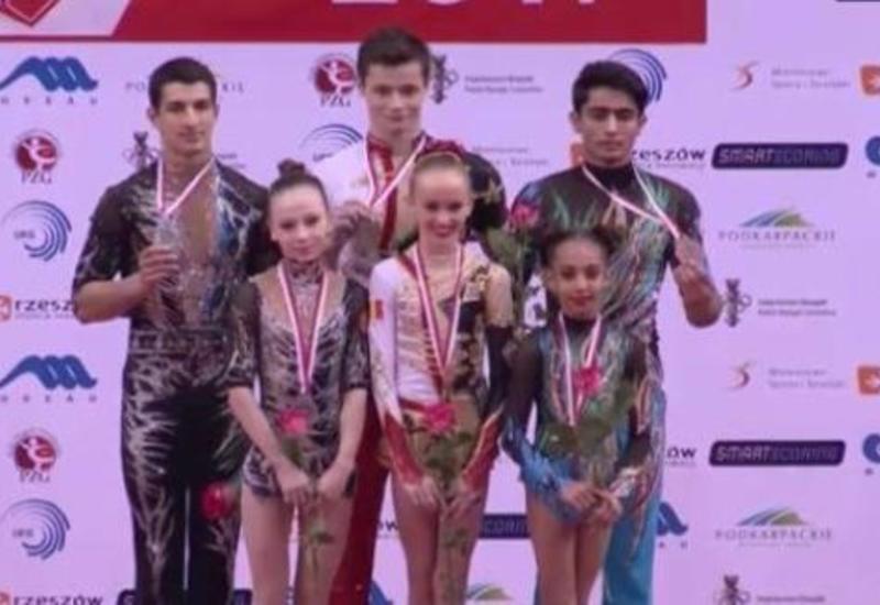 """Азербайджанские акробаты завоевали три бронзовые медали на первенстве Европы <span class=""""color_red"""">- ФОТО</span>"""