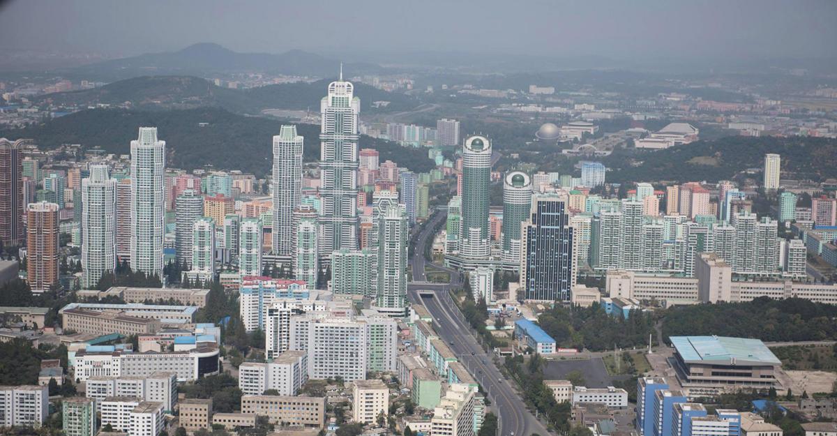Пхеньян впервый раз сняли навидео свысоты птичьего полета