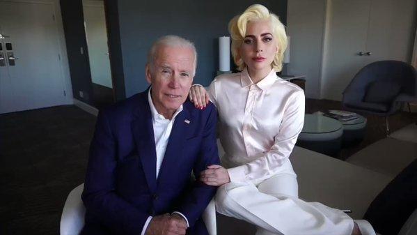 Леди Гага иДжо Байден категорически против насилия