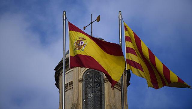 ВБарселоне прошла акция вподдержку задержанных каталонских чиновников