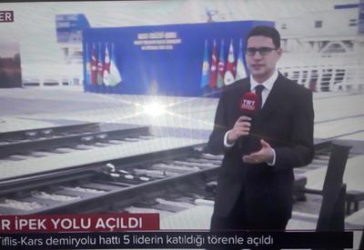"""Турецкие СМИ: Открытие железной дороги Баку-Тбилиси-Карс – историческое событие <span class=""""color_red"""">- ФОТО</span>"""