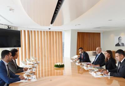 """Первый вице-президент Мехрибан Алиева встретилась с членами группы дружбы Франция-Азербайджан Национальной Ассамблеи Франции <span class=""""color_red"""">- ФОТО</span>"""
