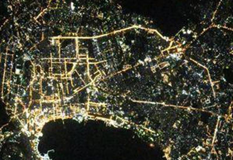 Потрясающий вид на Баку из космоса