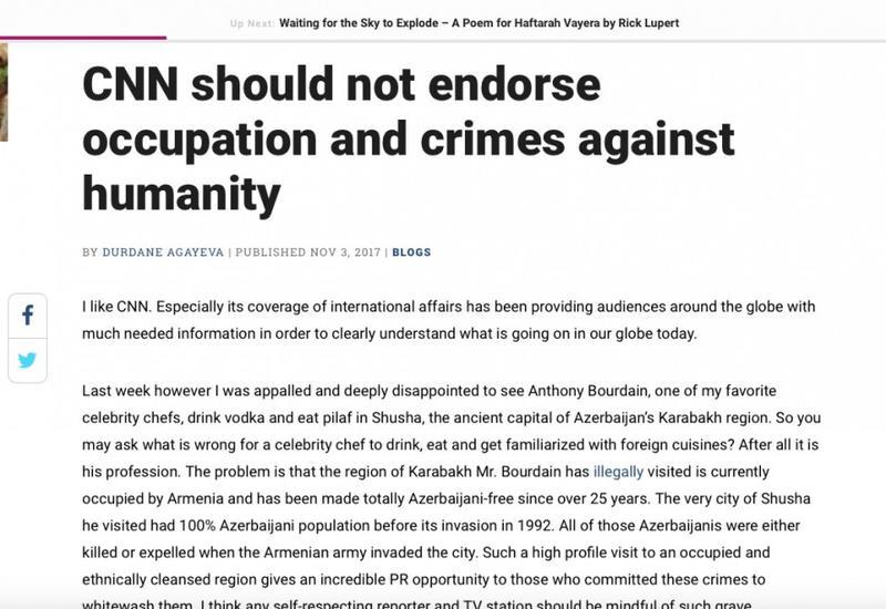 CNN не должен поддерживать оккупацию и преступления против человечества