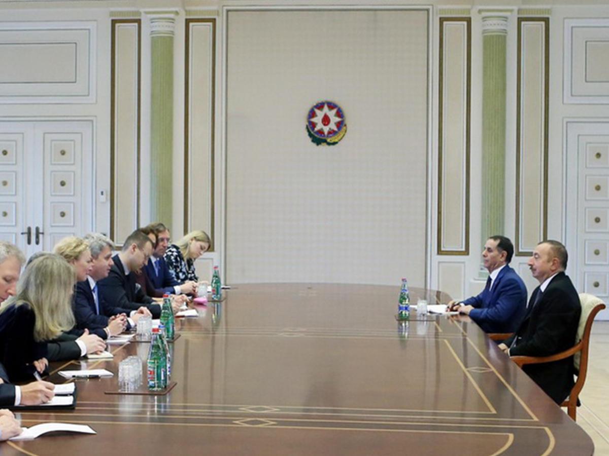 Президент Алиев: политические связиАР иЕС удачно  развиваются